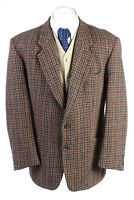 "Vintage Harris Tweed Classic Windowpane Blazer Jacket  Chest 44"" Multi - HT2715"