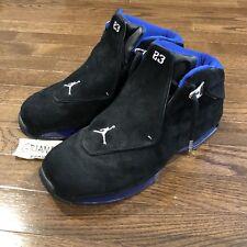 Men's 2003 Air Jordan 18 XVIII OG 305869-041 Black/Sport Royal Size 10 Suede