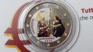 2 euro 2017 SLOVACCHIA farbe kleur color Slovaquie Slovakia Slovensko Slowakei