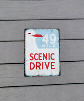 49 mile scenic drive highway street road Metal Sign Man cave 9x12 12x15 SS109