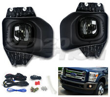 OE STYLE FOG LIGHTS PAIR SMOKE LAMPS SWITCH HARNESS FOR 11-16 F250 F350 F450 SD