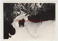 (F10434) Orig. Foto Oberhof, Personen auf der Bobbahn 1950