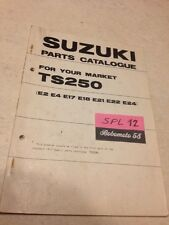 Suzuki Parts list TS250 TS 250 M 250TS catalogue liste pièce détachée par pays