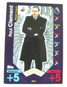 Match Attax 2016-17 Clement #M16 Manager Swansea Trading Card Topps Football