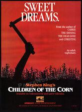CHILDREN OF THE CORN__Original 1984 print AD / video promo advert__STEPHEN KING