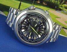 TISSOT Navigator T12 World Time Watch. Caliber 788. Date. Guy Freres Bracelet