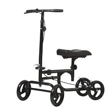 All-Road Knee Walker Steerable Madical Scooter Crutch Alternative BLK Fast Ship