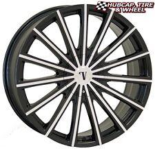 "Velocity VW22 Black Milled 22""x9.5 Custom Aftermarket Wheels Rims (set of 4)"