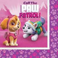 PAW PATROL GIRLS LUNCH NAPKINS BIRTHDAY PARTY SUPPLIES PACK OF 16