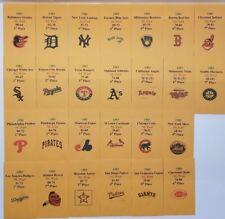 1983 Strat-O-Matic Baseball Printed Storage Envelopes with Stats and Team Logo
