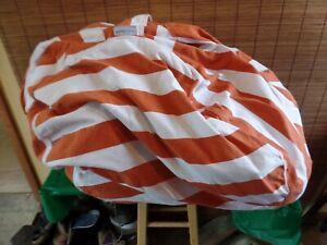 SOOTHING COMFORT Cotton Bean Bag/storage bag 32x32 orange & white
