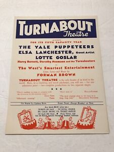 Theater Flyer Turnabout Theater Elsa Lancaster Hollywood California