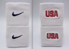 "Nike Dri-Fit Wristbands Usa White/College Navy/Red 3"" Men's Women's"