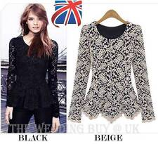 Round Neck Long Sleeve Lace Dresses for Women