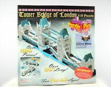 """Tower Bridge Of London 3D Puzzle Plex 590+ Pieces Age 8+ Telebrands 30"""" Long New"""