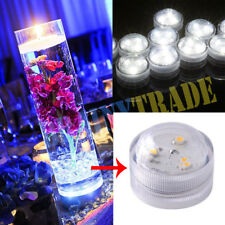 10-50X LED Tea Lights Candles Submersible Waterproof Wedding Party Centerpiece