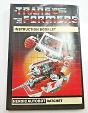 Ratchet G1 Autobot Medic Transformer Instructions Part Only [RMIP77]