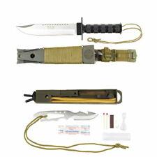 Survival Knife Gürtelmesser Outdoormesser Jagdmesser mit Überlebensausrüstung