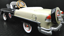 1955 Chevy Pedal Car Vintage BelAir Hot Rod Sport Star Black Midget Metal Model
