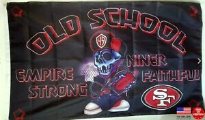 San Francisco 49ers Old School Style 3x5 Flag 3 x 5 Banner New