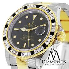 Rolex Submariner Homme MONTRE AUTOMATIQUE 116613bkdo avec personnalisé diamants