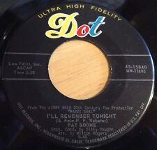 Pat Boone 45 I'll Remember Tonight / The Mardi Gras March