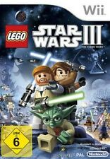 Nintendo Wii Wii-U Lego Star Wars 3 the Clone Wars alemán impecable