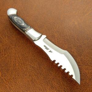 Adam Shaw's CUSTOM FULL TANG SURVIVAL BUSHCRAFT TRACKER KNIFE EXOTIC WOOD HANDLE