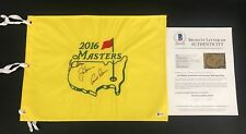 PLAYER JACK NICKLAUS ARNOLD PALMER SIGNED AUTO OFFICIAL MASTERS FLAG BECKETT