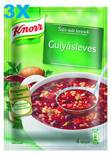 3 pc KNORR Hungarian Goulash Soup 65g FREE SHIPPING