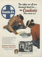 1952 Santa Fe Railroad Print Advertisement: Super Chief, California LTD. Chief