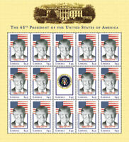 Liberia 2017 - PRESIDENTIAL DONALD TRUMP 45th President - Sheetlet of 15 - MNH