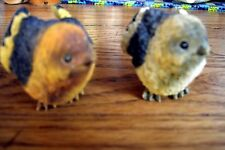 Birds Chubby Brown & Yellow Birds  Resin ~ Set of 2 ~