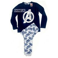 Marvel Avengers Kids/boys winter fleece Top &Pyjama set Pjs Primark 7-15yrs NEW