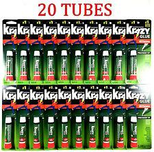 20pk Krazy Glue Instant strong Super Glue crazy fast Tube All Purpose 0.07oz