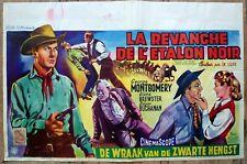 belgian poster western KING OF THE WILD STALLIONS, GEORGE MONTGOMERY, ETALON