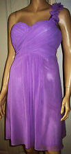 EVER PRETTY Lilac One Shoulder Petal Lined  Summer Party Cocktail Dress Size 12