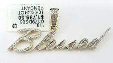 Clearance  Yellow Genuine Diamond Pendant Charm Iced Out Blessed Name Plate