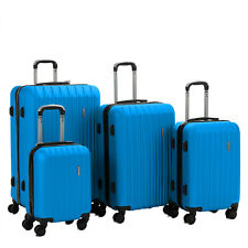 Set of 4 ABS Travel Luggage Sets Suitcase Hardside Spinner 16