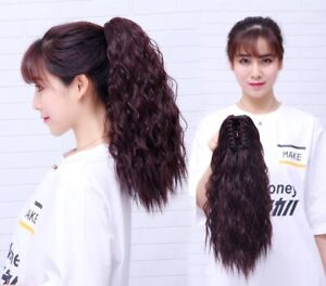 14/16'' Ponytail Afro Kinky Curly Synthetic Hair Extension Claw Clip String Hair