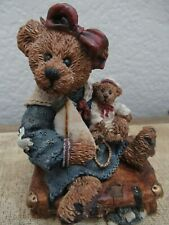 New ListingBoyds Bears Figurine Bearstone Bailey Bear with Suitcase The Boyds Collection