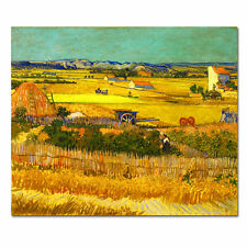 Canvas Print Picture Van Gogh Paintings Home Decor Wall Art Golden Harvest Frame