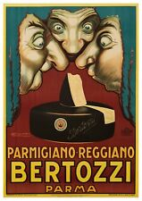 "Reproduction Vintage Italian ""Bertozzi"" Poster, Home Wall Art, Size A2"