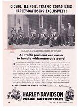 "1948 Vintage Harley Davidson Police Motorcycles ""Cicero, Illinois"" Print Ad"