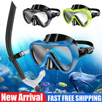 Adult Diving Mask Snorkeling Set Half Face Dry Scuba Anti-Fog Swimming Goggles