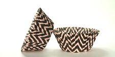 50pc Chevron Design - Black / Pink Standard Size Cupcake Baking Cups Liners W...