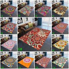 Mandala Carpets Non-slip Living Room Bohemian Area Rugs Floor Doormats Mat Decor