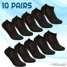 10 Pairs Ladies Sports Trainer Socks Ankle Liners Everyday Run Active Black UK