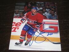P.J. STOCK autographed MONTREAL CANADIENS 8x10 photo L@@K!
