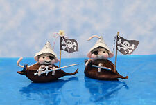 """Needle Felted """"Pirate Mice"""" - Boy or Girl - In Their Pod Boats"""